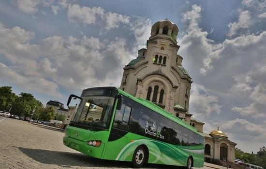 Отличие за Чериът Моторс за електрическия автобус в София