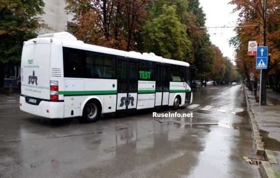 Електрически автобус се движи тестово в Русе