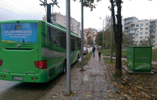 Втори електробус се движи тестово във Велико Търново